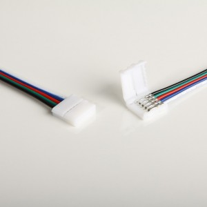LED Stripe 15cm- Anschlusskabel, 10Stk., 5-polig, 12mm