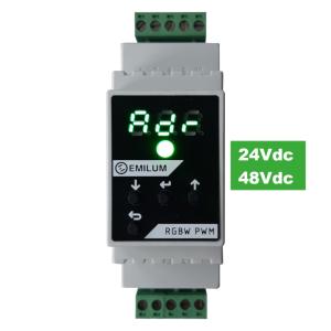 LED-PWM-Dimmer, 4-Kanal, DMX/RDM, 12-48V, 300W (600W @48V)