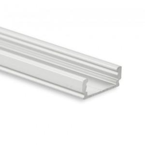 PL1 LED AUFBAU-Profil 200 cm, flach, LED Stripes max. 12 mm