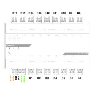 Relais-Aktor, 16-Kanal, DMX/RDM, 16A, 230V